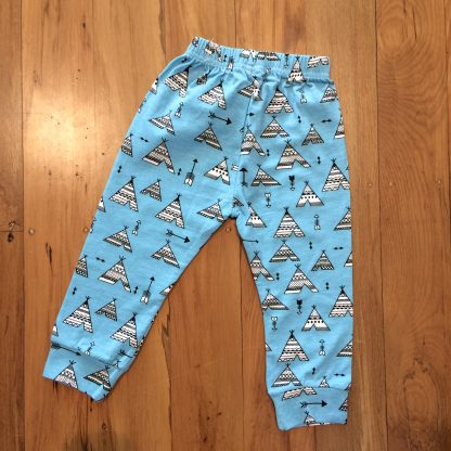Blue teepee pants