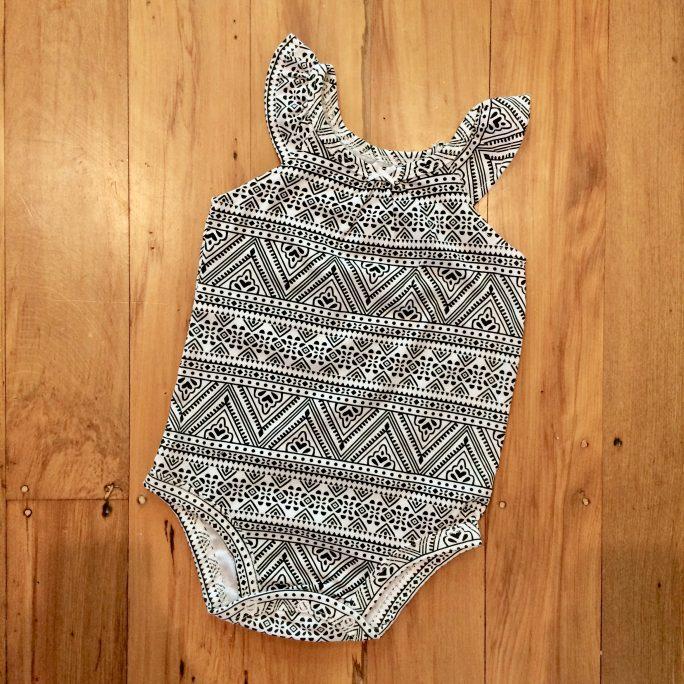 Aztec pattern bodysuit