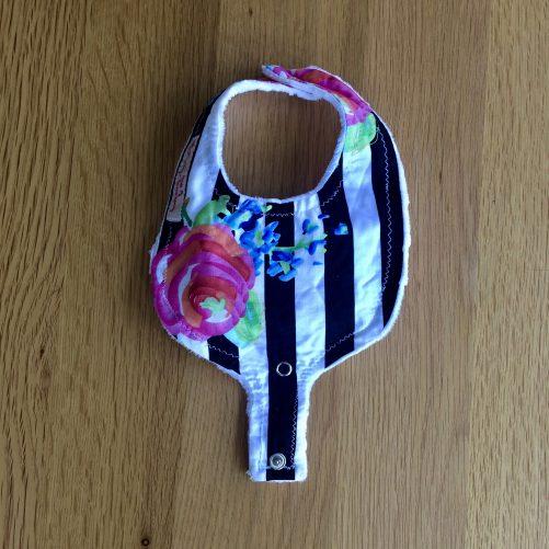 Flower dummy clip bib