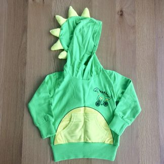 Green and Yellow Dinosaur Hoodie