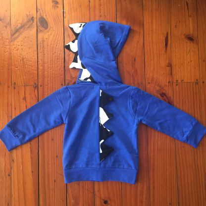 Blue Dino Hoodie