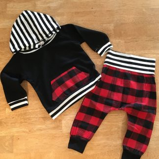 baby boys tartan set