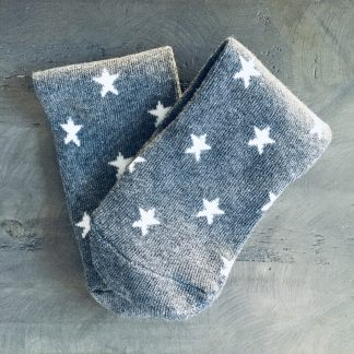 grey star socks
